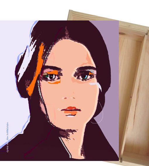 Relatiegeschenken 13 Grace van den Dobbelsteen Wijnkistjes-Kunst 3-vaks en kunstwerk nr13 WEB
