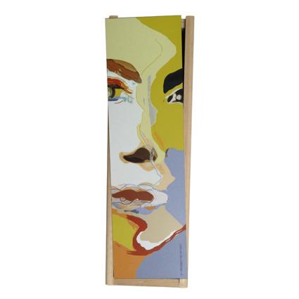 Relatiegeschenken  3 Wijnkistje Kunst Grace van den Dobbelsteen Kerspakketten eenvaks kistje nr3 WEB